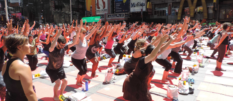 Mass yoga event